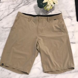 Men's Hurley size 34 khaki shorts.